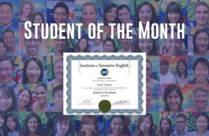 まさか私が!? IIE Hawaii で Student of the Month 受賞