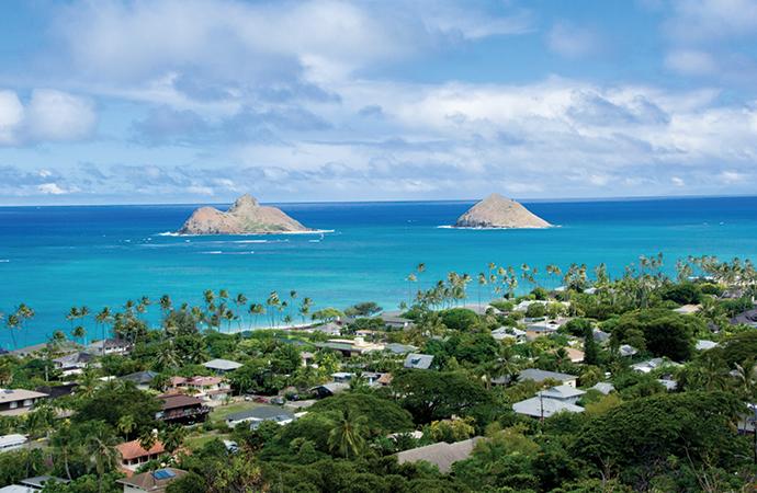 IIE Hawaii デイリーアクティビティ Lanikai Pillbox Hikeに同行。