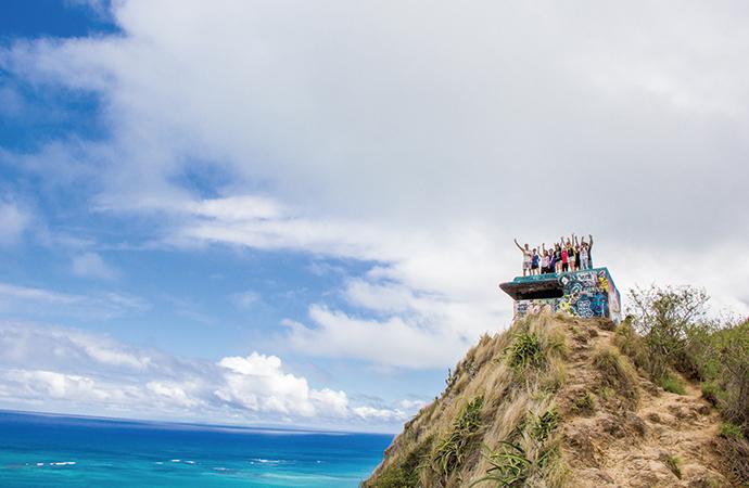 ここが本当の頂上。みんな、素敵な笑顔です。