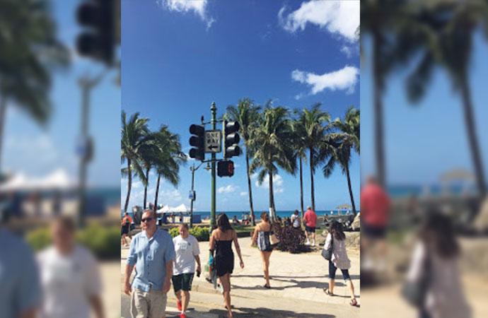 「ハワイの横断歩道、なぜか渡れない」 お気に入りのハワイお散歩コース