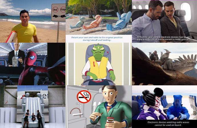 ハワイ就航中の航空会社 おもしろ 安全ビデオ 8選